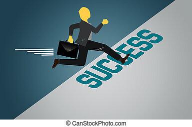 pisar, para, a, sucesso, área
