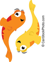 Pisces - Vector illustration of Pisces in cartoon style