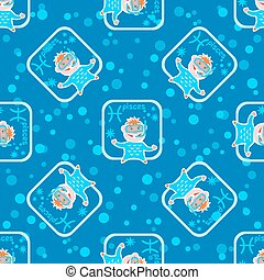 pisces seamless pattern