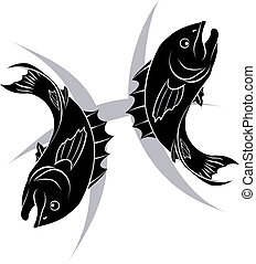 Pisces zodiac horoscope astrology s - Illustration of Pisces...