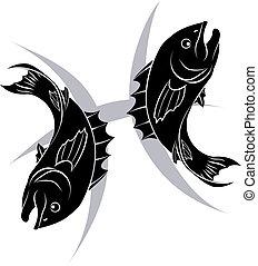 Pisces zodiac horoscope astrology s - Illustration of Pisces...