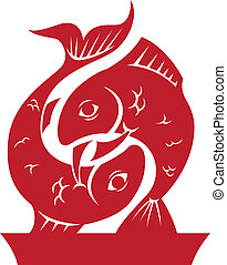 Pisces Zodiac/Horoscope Symbol - Greek style zodiac symbol...