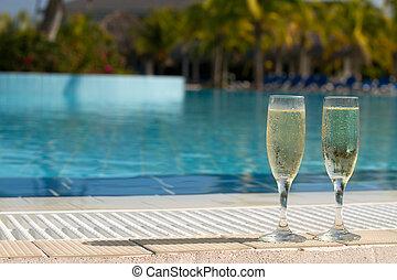 piscina champanhe