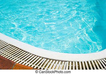 piscina, fundo, natação