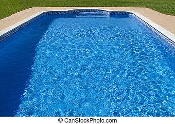 piscina, grande, natação, luxuoso