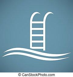 piscina, icono