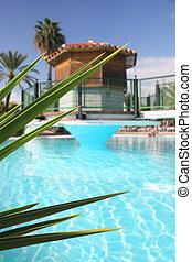 piscina, panorâmico