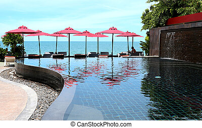 piscina, praia
