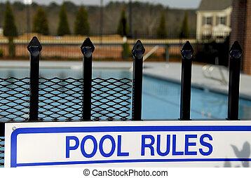piscina, regras