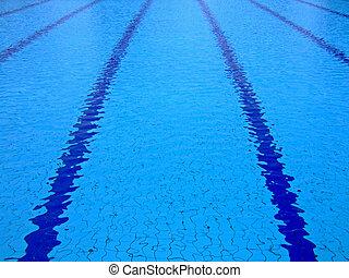 piscina, superficie, natación