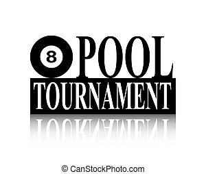 piscina, torneo, silueta, señal