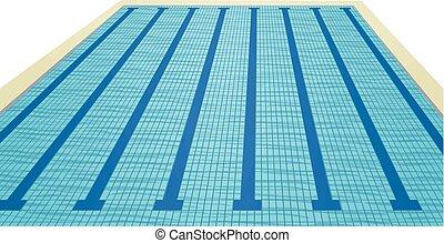 piscina, vetorial