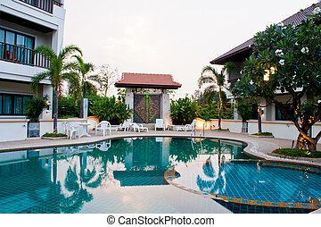 h tel barre pattaya luxe piscines tha lande plage image recherchez photos clipart. Black Bedroom Furniture Sets. Home Design Ideas