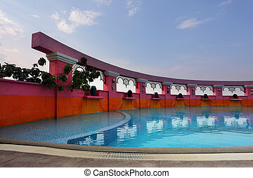 piscine, beau
