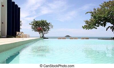 piscine, délassant, natation