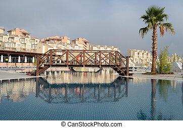 piscine, de, luxe, hôtel