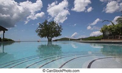 piscine, exotique, interminable, île