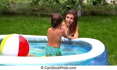 piscine, gosse