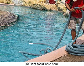 piscine, natation, nettoyage