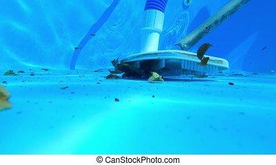 piscine, nettoyage, fond