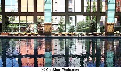 piscine, vide, natation