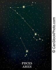 piscis, constelación, aries