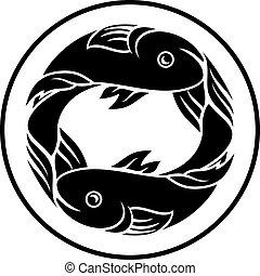 piscis, pez, horóscopo, zodíaco, señal