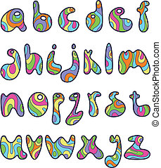 piscodelica, pequeno, letras