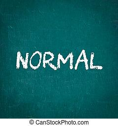 pisemny, chalkboard, normalny