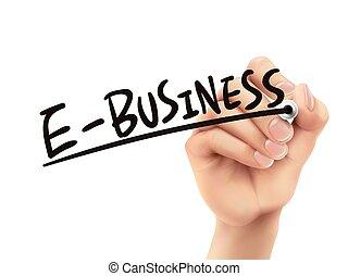 pisemny, e-handlowy, ręka