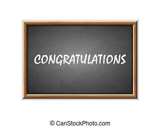 pisemny, gratulacje, tablica