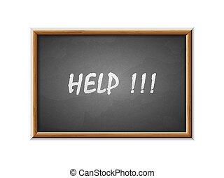 pisemny, pomoc, tablica
