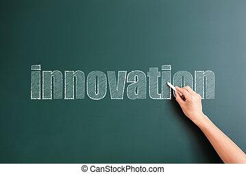 pisemny, tło, innowacja