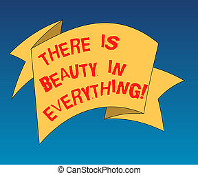pismo, tekst, pisanie, tam, jest, piękno, w, everything., pojęcie, treść, świat, jest, na, bez końca, szyk, od, magia, i, cud, fałdowy, 3d, wstążka, pas, stały, kolor, czysty, szarfa, fotografia, dla, celebration.