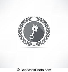 pistón, icono