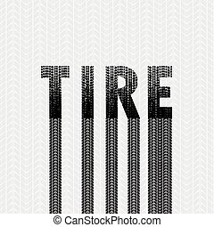pista, 1, fonte, grunge, pneu