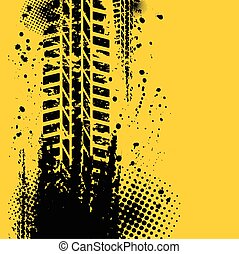 pista, amarela, pneu, fundo