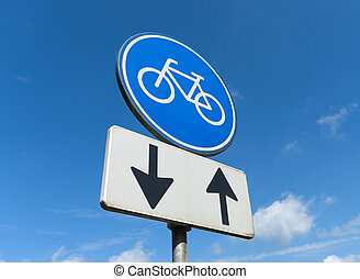 pista bicicleta, sinal