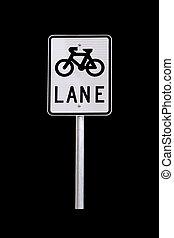 pista bicicleta, sinal tráfego, -, australiano, sinal estrada