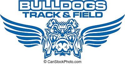 pista, campo, bulldogs