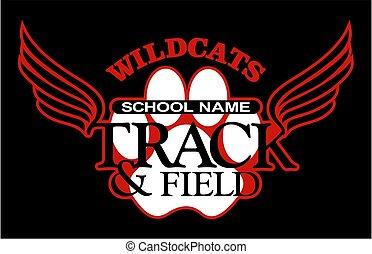 pista, campo, wildcats
