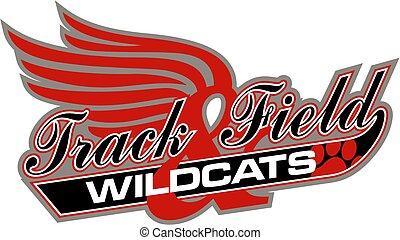 pista, campo, wildcats, &