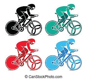 pista, ciclista