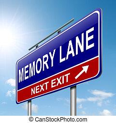 pista, concept., memória