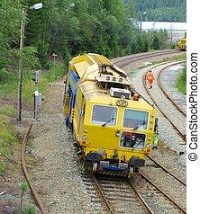 pista, construção, trem