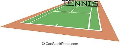 pista de tenis, perspectiva