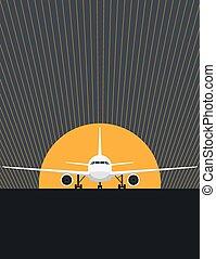 pista decolagem avião
