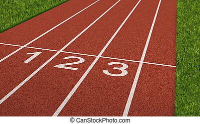 pista, desporto, competição
