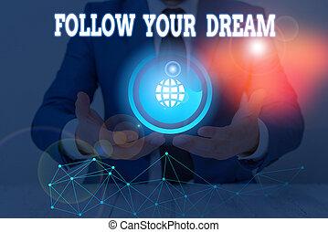 pista, dream., tuo, foto, segno, esposizione, custodire, be., vita, volere, mete, vivere, concettuale, testo, seguire, lei