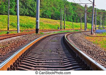 pista, ferrocarril